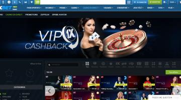 1xBet Live casino 1
