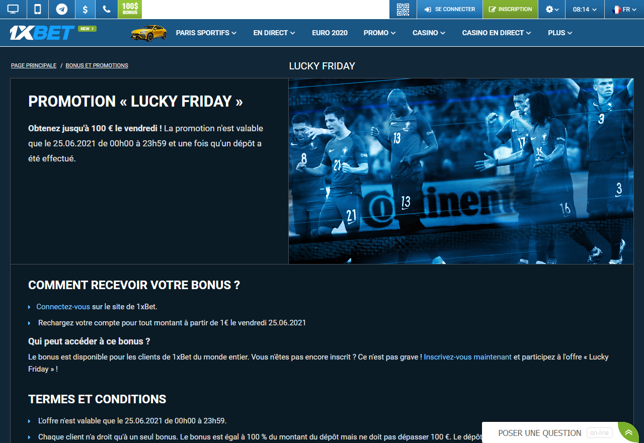 1xBet - Lucky Friday