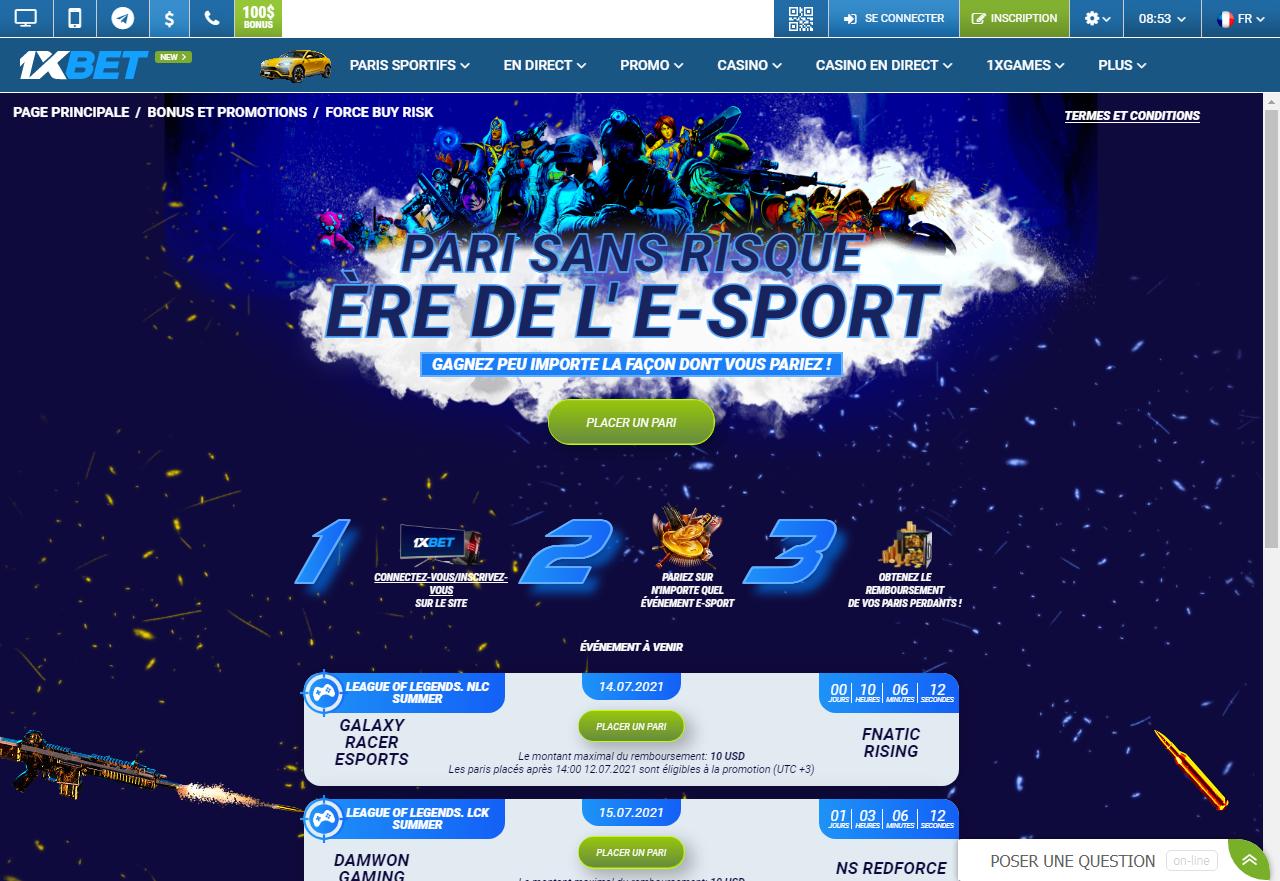 1xBet - Ere de l'E-Sport