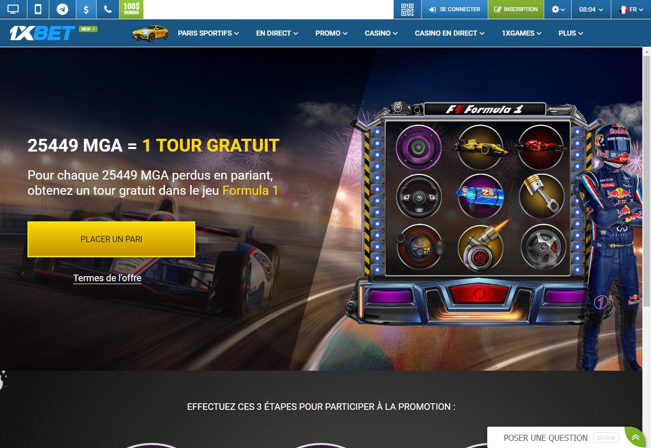 1xBet - Paris sur la Formule 1