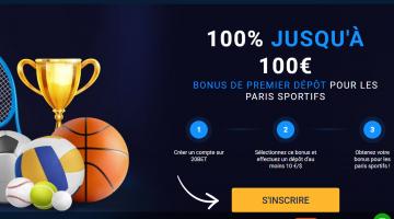 20Bet Bonus de premier dépôt sur les paris sportifs