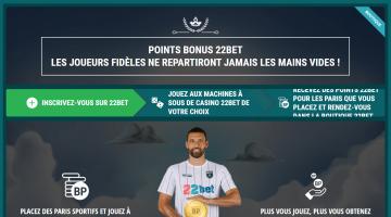 22Bet Points bonus