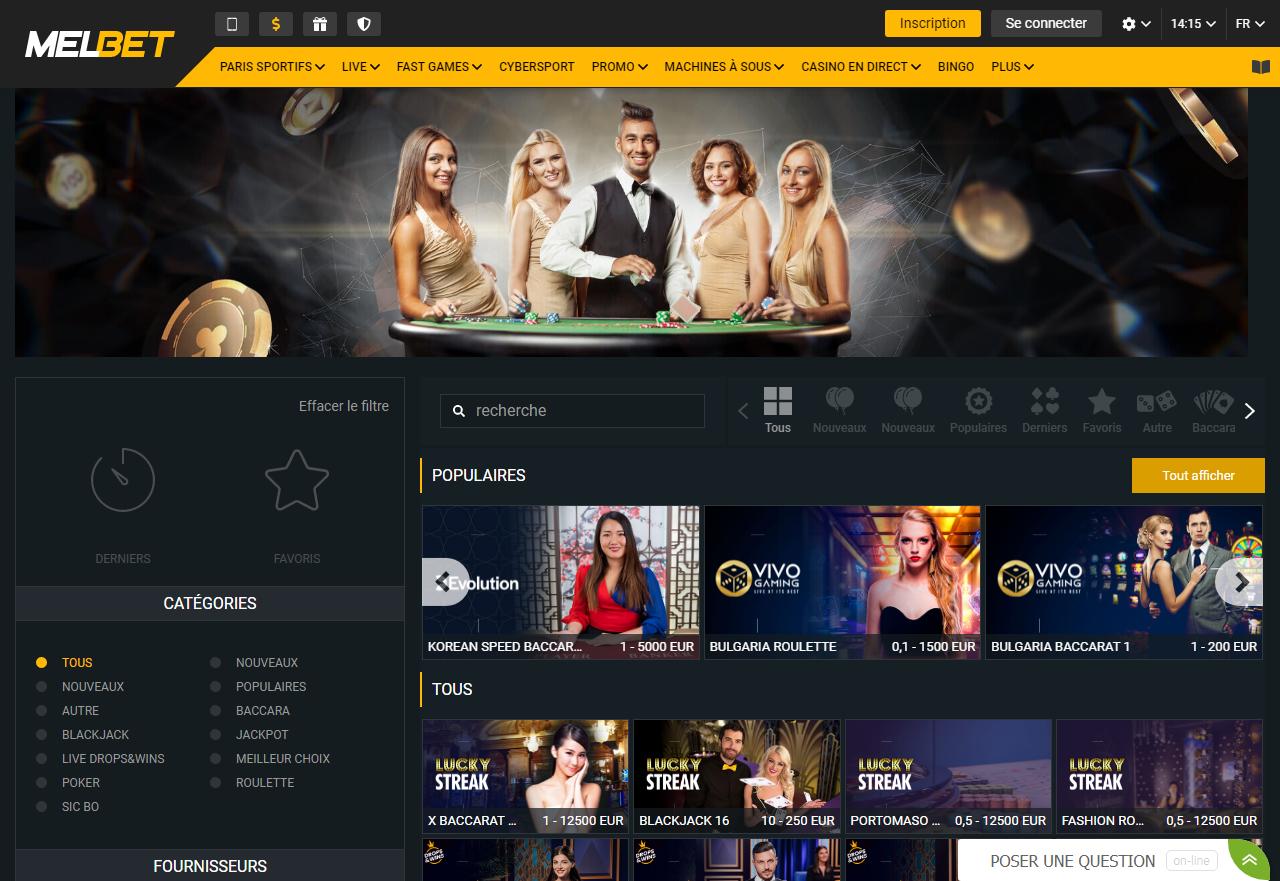 Melbet Casino 1