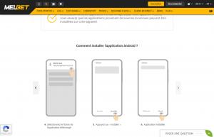 Melbet pour Android 2
