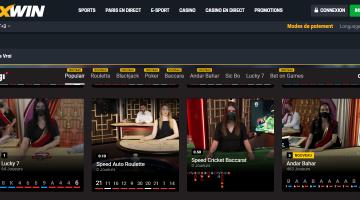Noxwin Live casino 1